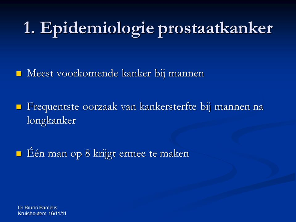 Dr Bruno Bamelis Kruishoutem, 16/11/11 1.