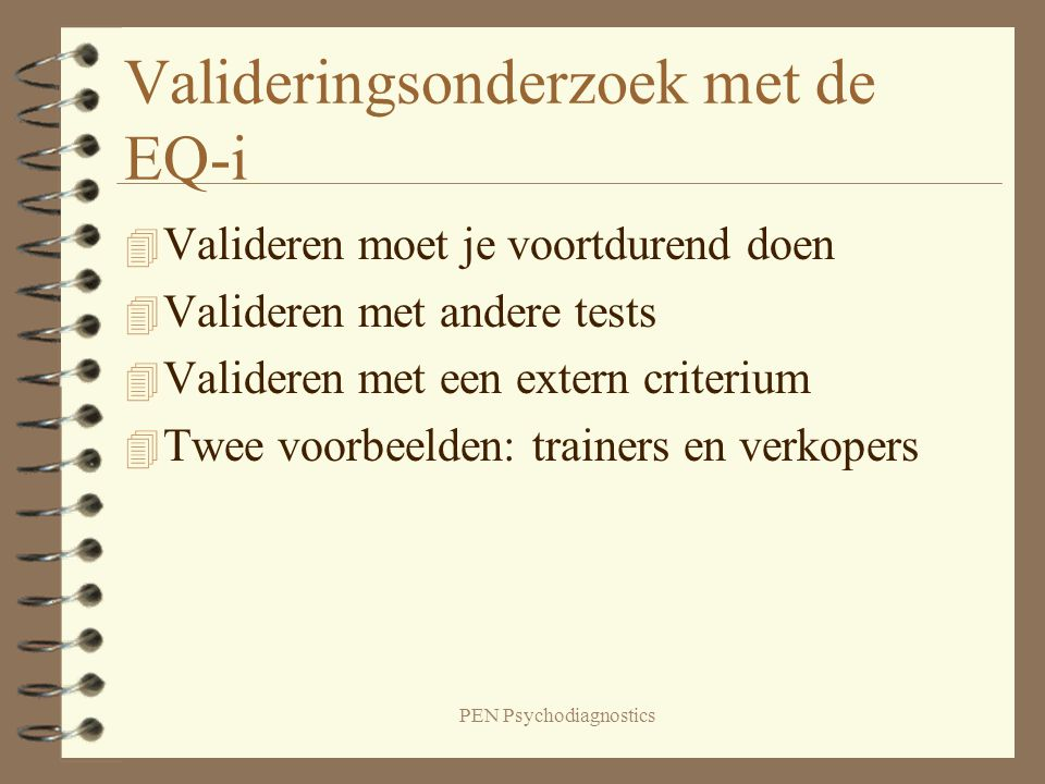 PEN Psychodiagnostics Succesvolle trainers versus de rest 1