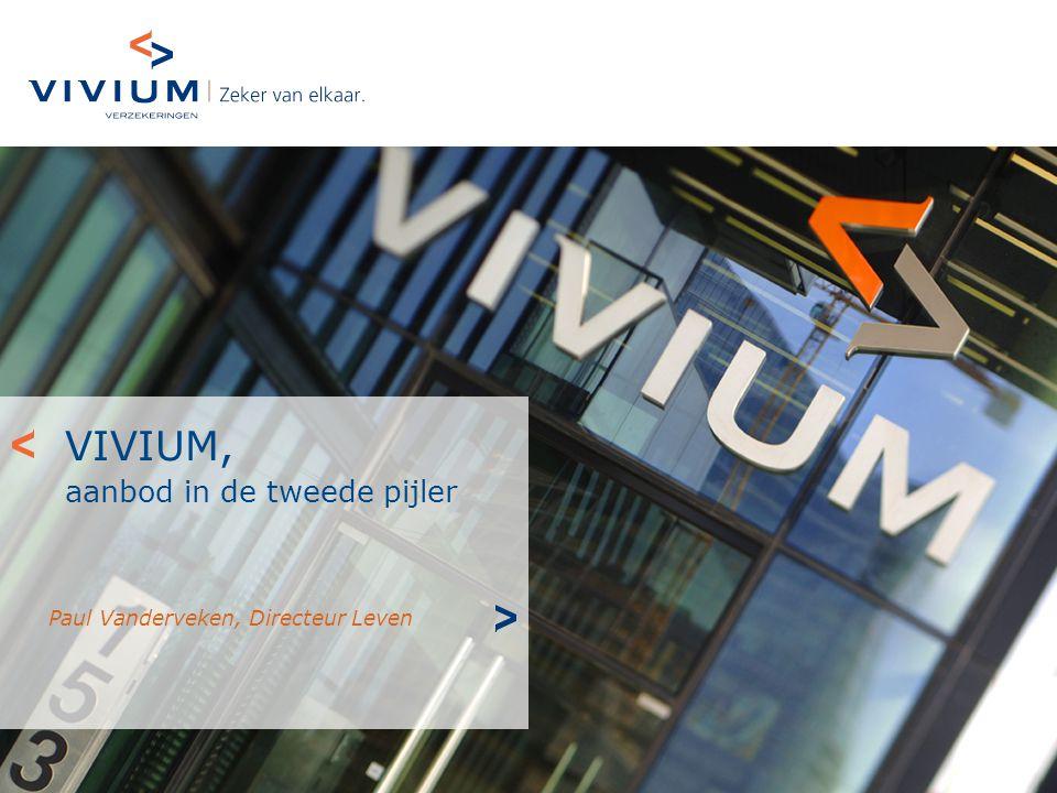 VIVIUM, aanbod in de tweede pijler Paul Vanderveken, Directeur Leven