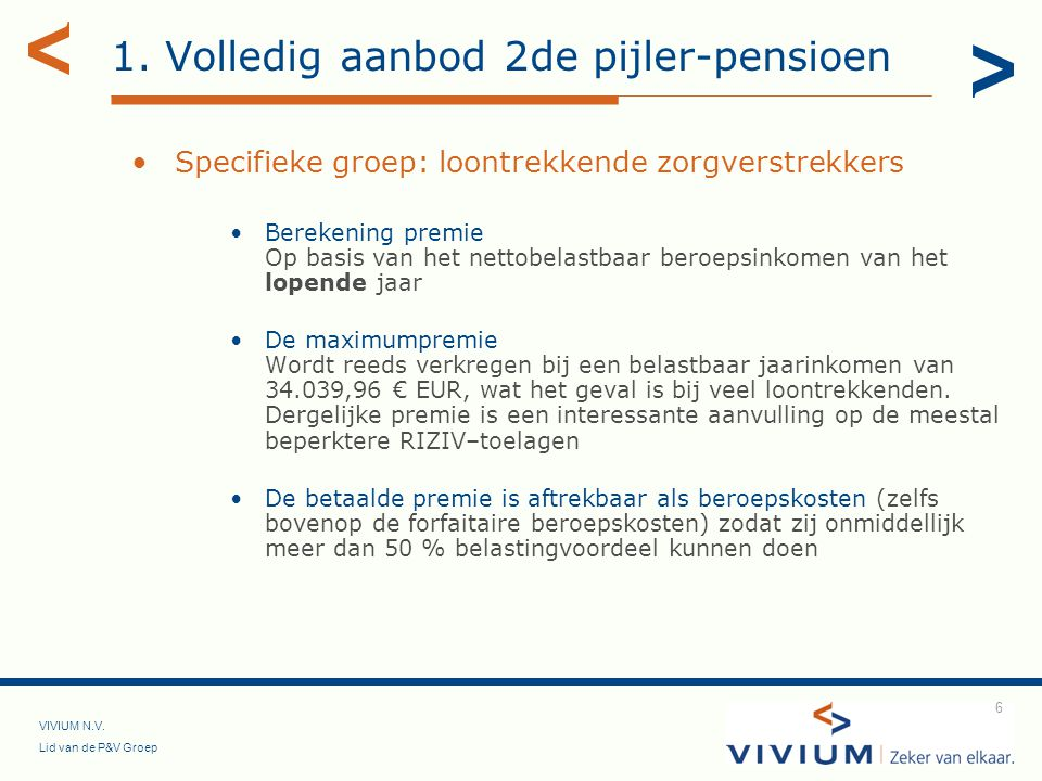 VIVIUM N.V.Lid van de P&V Groep 17 3.