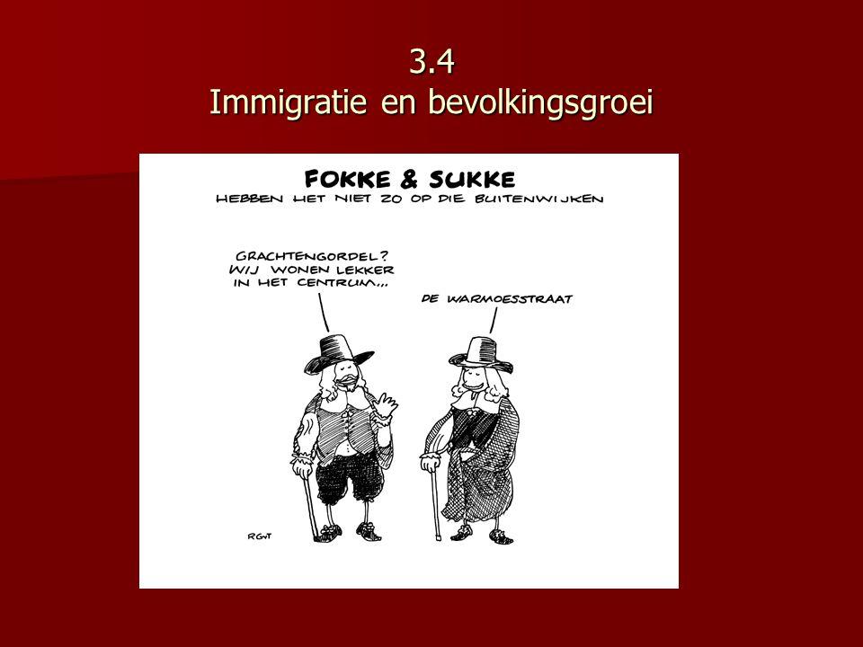 3.4 Immigratie en bevolkingsgroei