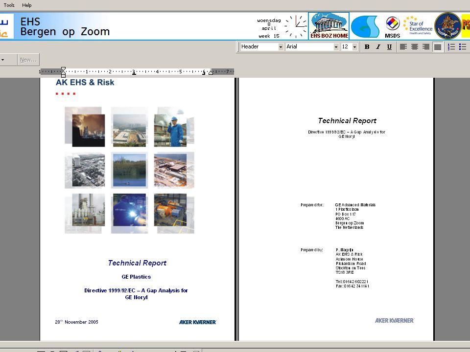 11 Aanpak ATEX Stap 2: Veldinspektie: - Hoe ziet de directe omgeving er uit - Identificatie gevaarsbronnen - Luchtverversing