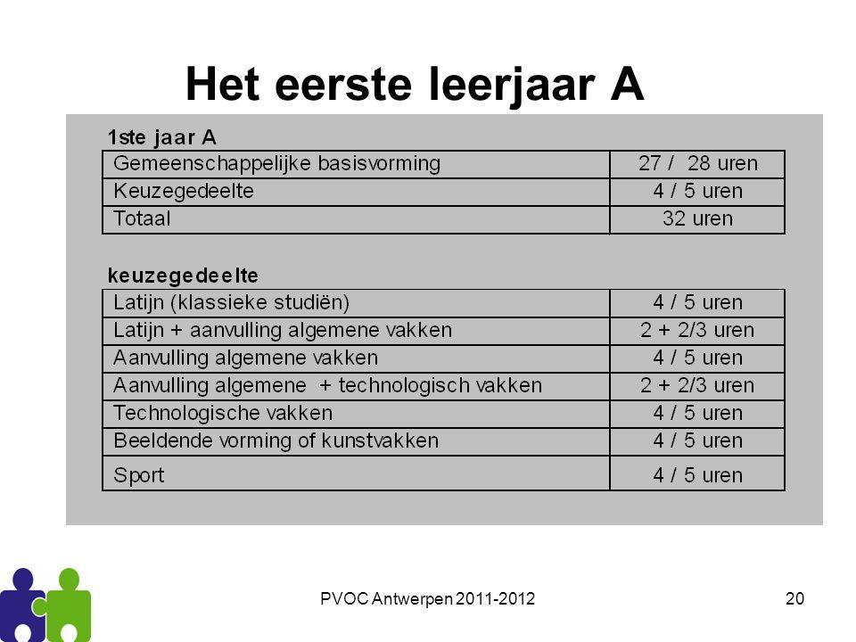 PVOC Antwerpen 2011-201220 Het eerste leerjaar A