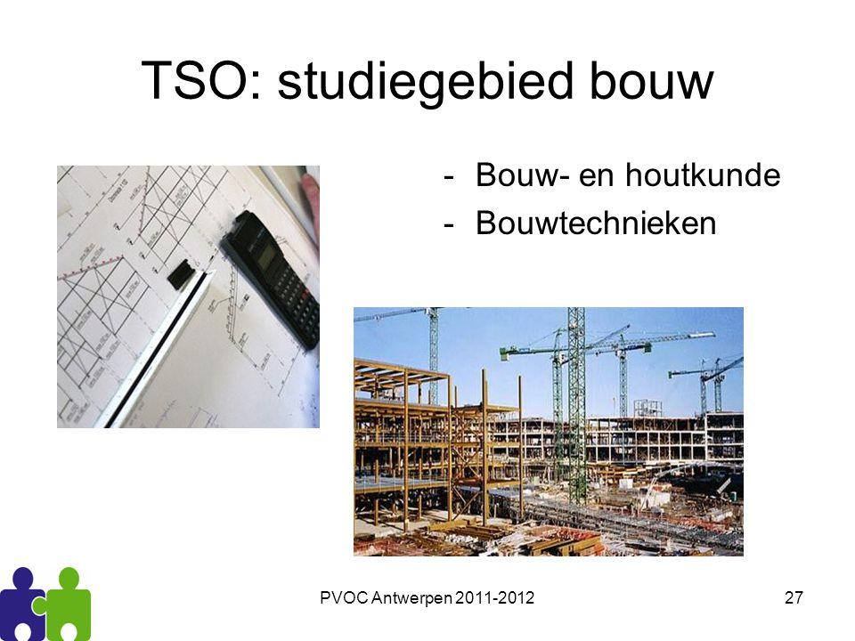 PVOC Antwerpen 2011-201227 TSO: studiegebied bouw -Bouw- en houtkunde -Bouwtechnieken