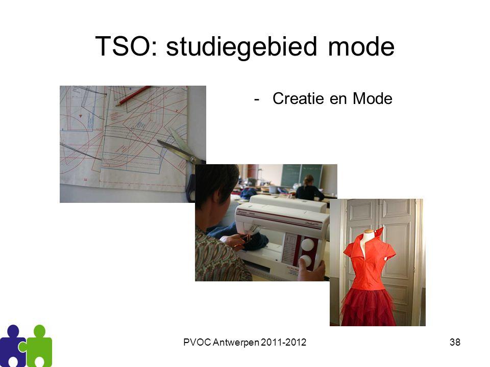 PVOC Antwerpen 2011-201238 TSO: studiegebied mode -Creatie en Mode