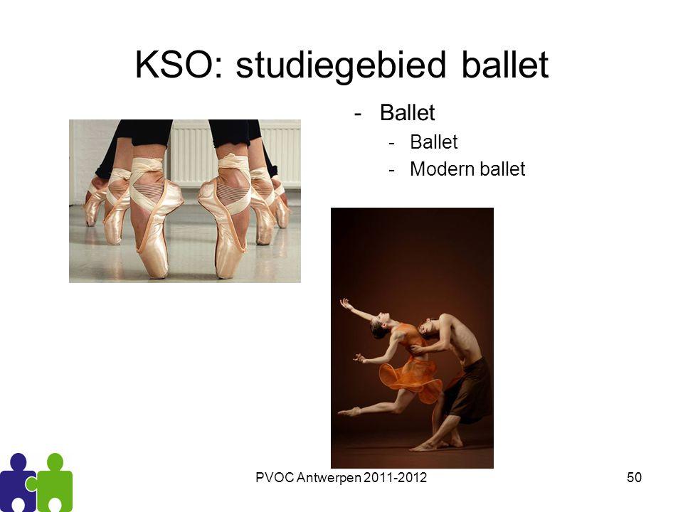 PVOC Antwerpen 2011-201250 KSO: studiegebied ballet -Ballet -Modern ballet