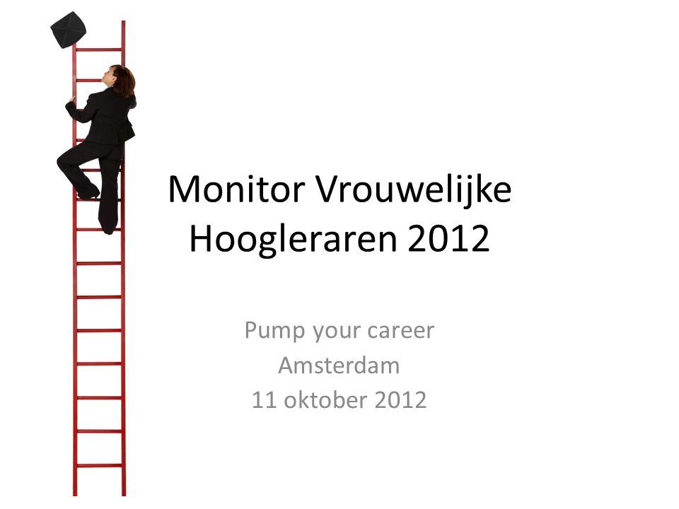 Monitor Vrouwelijke Hoogleraren 2012 Pump your career Amsterdam 11 oktober 2012