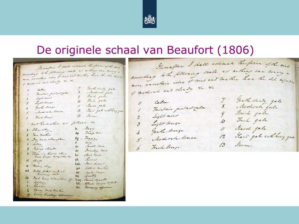 De originele schaal van Beaufort (1806)
