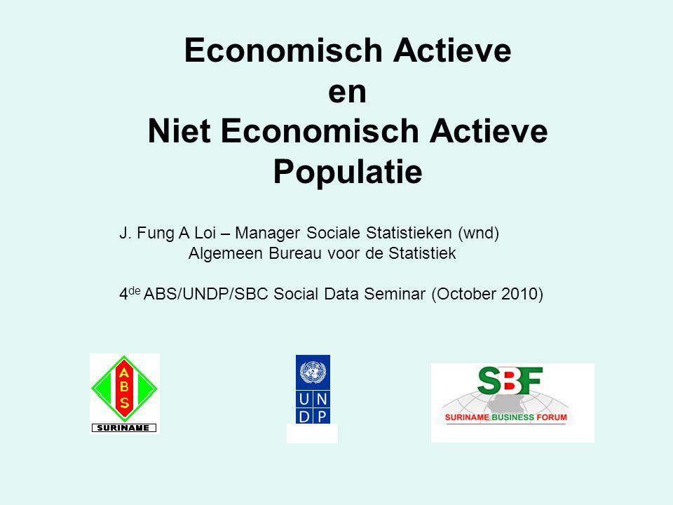 Economisch Actieve en Niet Economisch Actieve Populatie J.