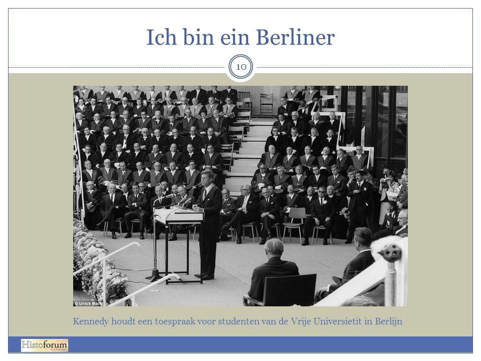 10 Kennedy houdt een toespraak voor studenten van de Vrije Universietit in Berlijn