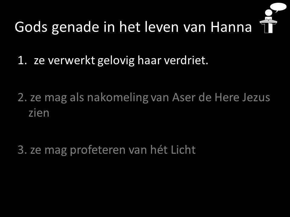 Gods genade in het leven van Hanna 1.ze verwerkt gelovig haar verdriet.