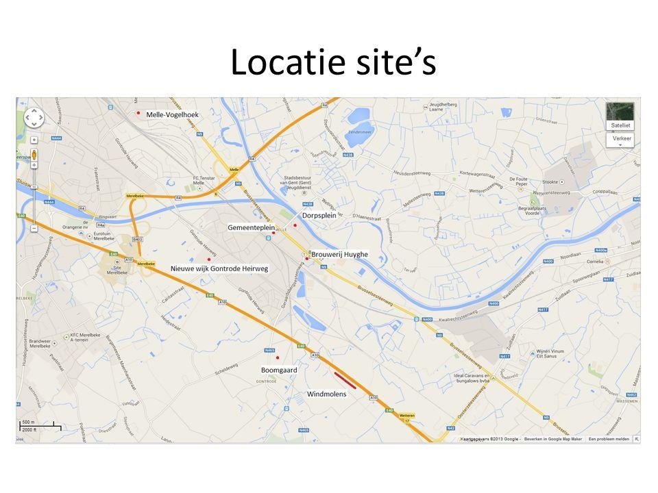 Locatie site's