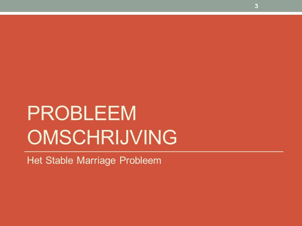 PROBLEEM OMSCHRIJVING Het Stable Marriage Probleem 3