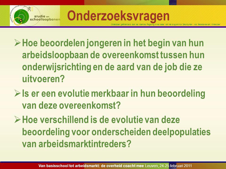 Onderzoek gefinancierd door de Vlaamse Regering in het kader van het programma 'Steunpunten voor Beleidsrelevant Onderzoek' Onderzoeksvragen  Hoe beo