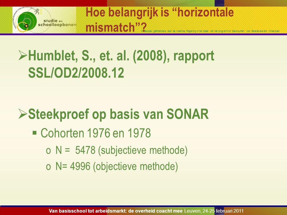 """Onderzoek gefinancierd door de Vlaamse Regering in het kader van het programma 'Steunpunten voor Beleidsrelevant Onderzoek' Hoe belangrijk is """"horizon"""