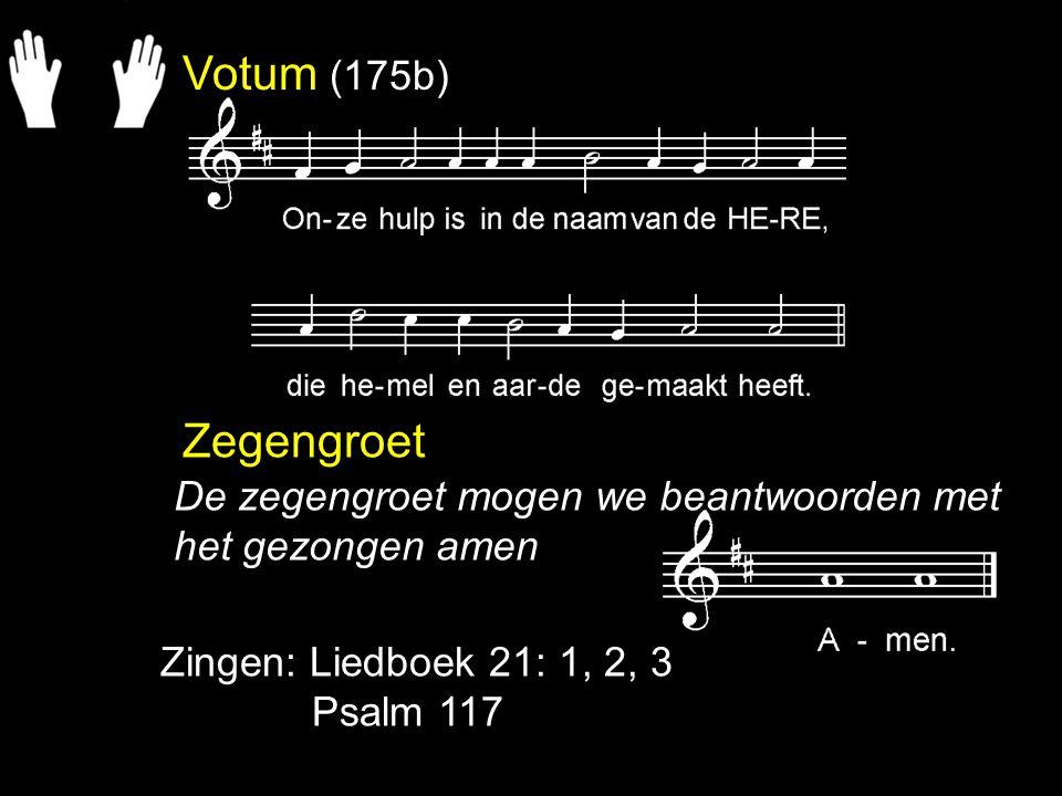Liedboek 21: 1, 2, 3 Alles wat adem heeft love de Here, zinge de lof van Isrels God.