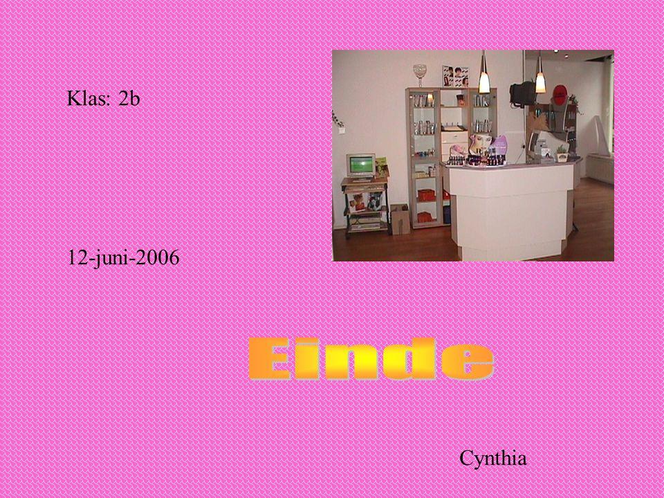 Klas: 2b 12-juni-2006 Cynthia