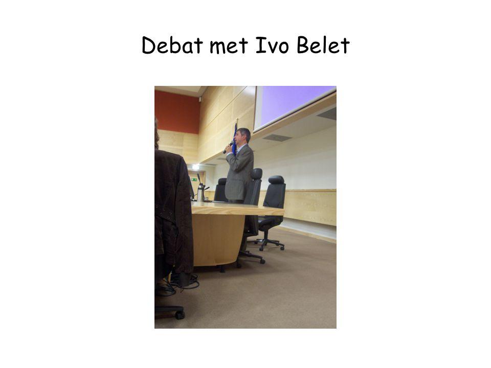 Debat met Ivo Belet