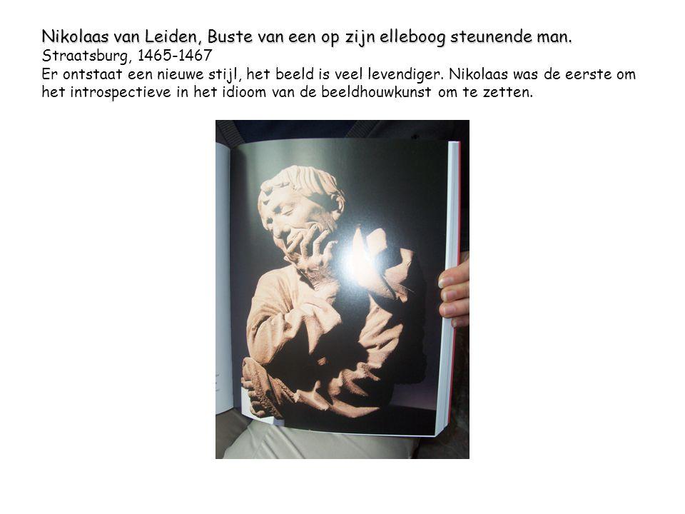 Nikolaas van Leiden, Buste van een op zijn elleboog steunende man.