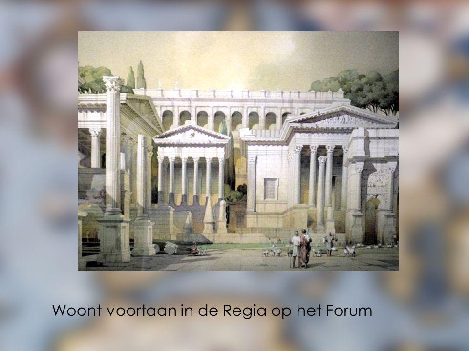 Woont voortaan in de Regia op het Forum