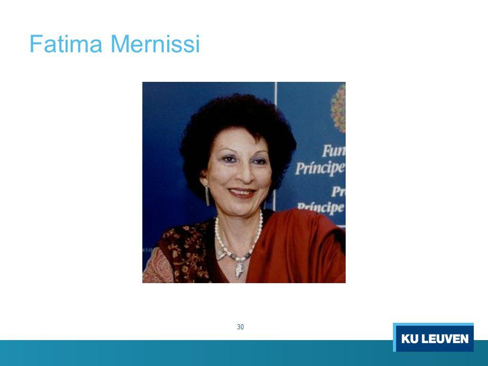 Fatima Mernissi 30