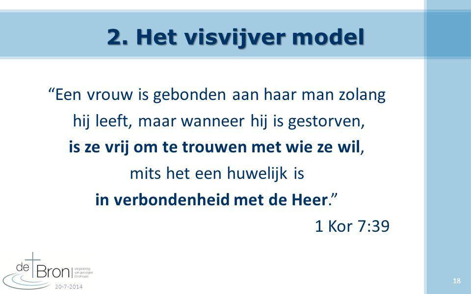 """2. Het visvijver model """"Een vrouw is gebonden aan haar man zolang hij leeft, maar wanneer hij is gestorven, is ze vrij om te trouwen met wie ze wil, m"""