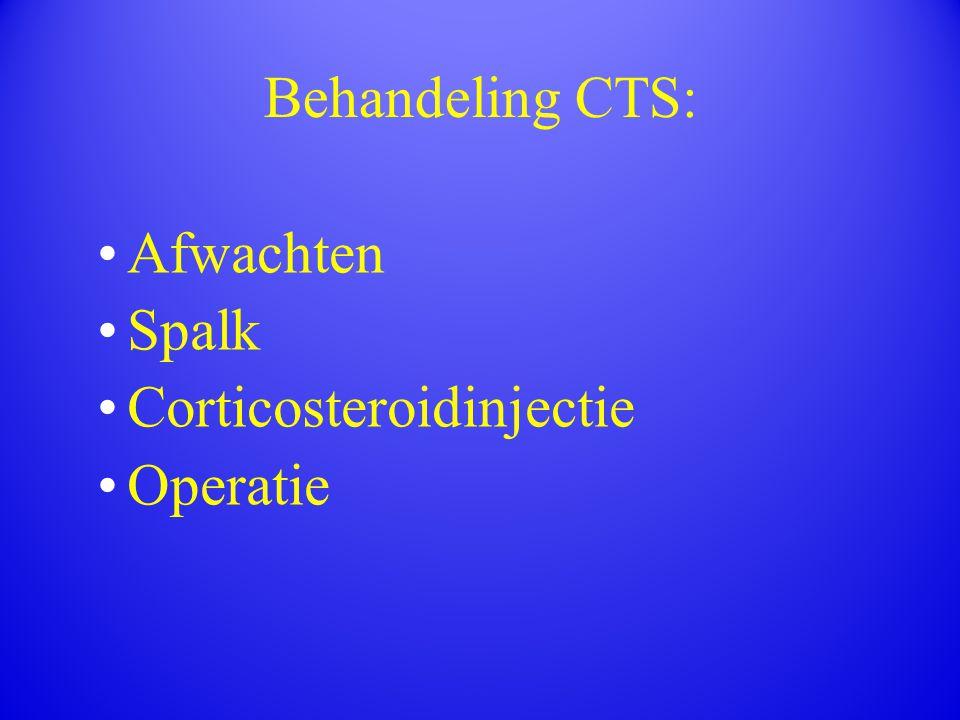 Behandeling CTS: Afwachten Spalk Corticosteroidinjectie Operatie