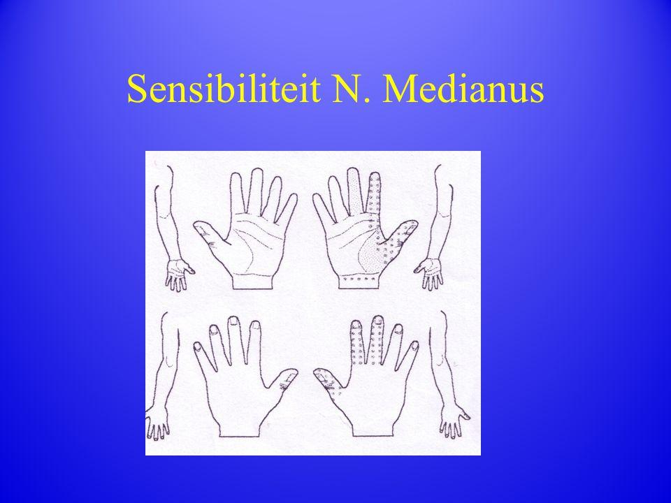 Sensibiliteit N. Medianus
