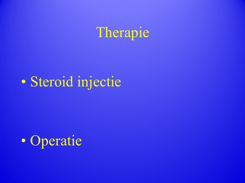 Steroid injectie Operatie