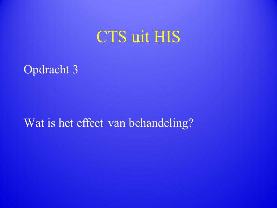 CTS uit HIS Opdracht 3 Wat is het effect van behandeling?