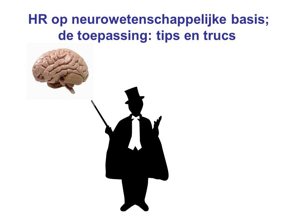 HR op neurowetenschappelijke basis; de toepassing: tips en trucs