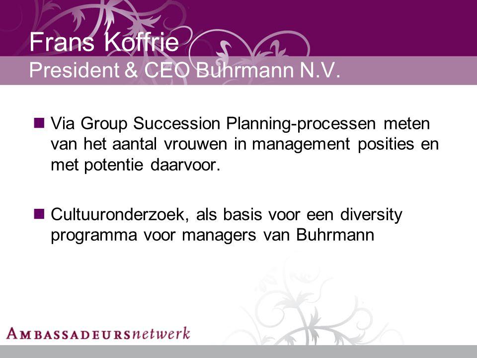 Frans Koffrie President & CEO Buhrmann N.V.