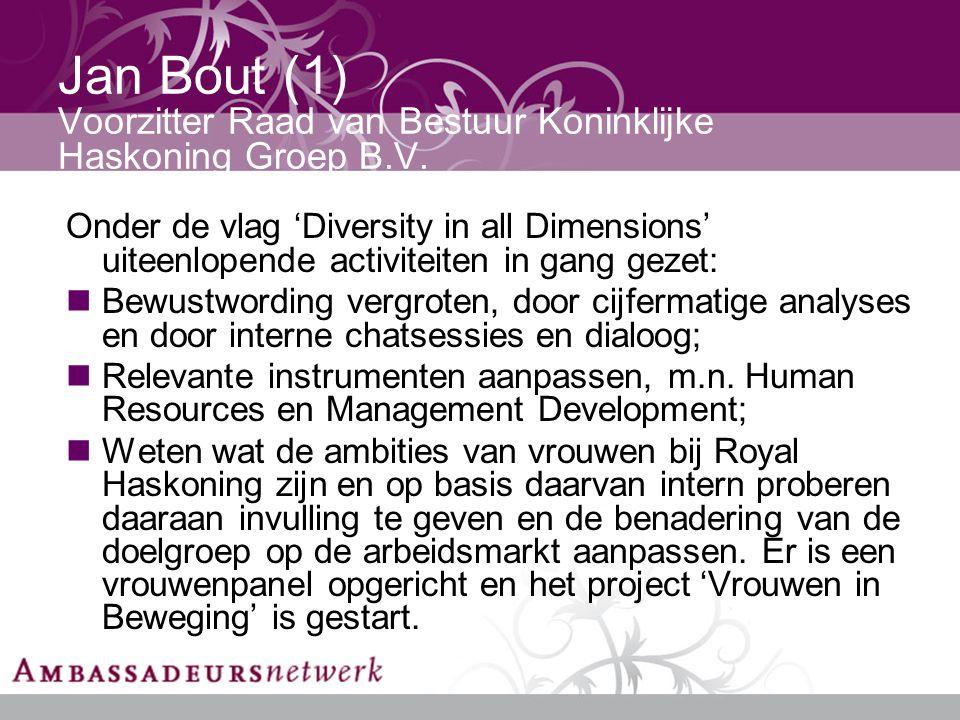 Jan Bout (1) Voorzitter Raad van Bestuur Koninklijke Haskoning Groep B.V.