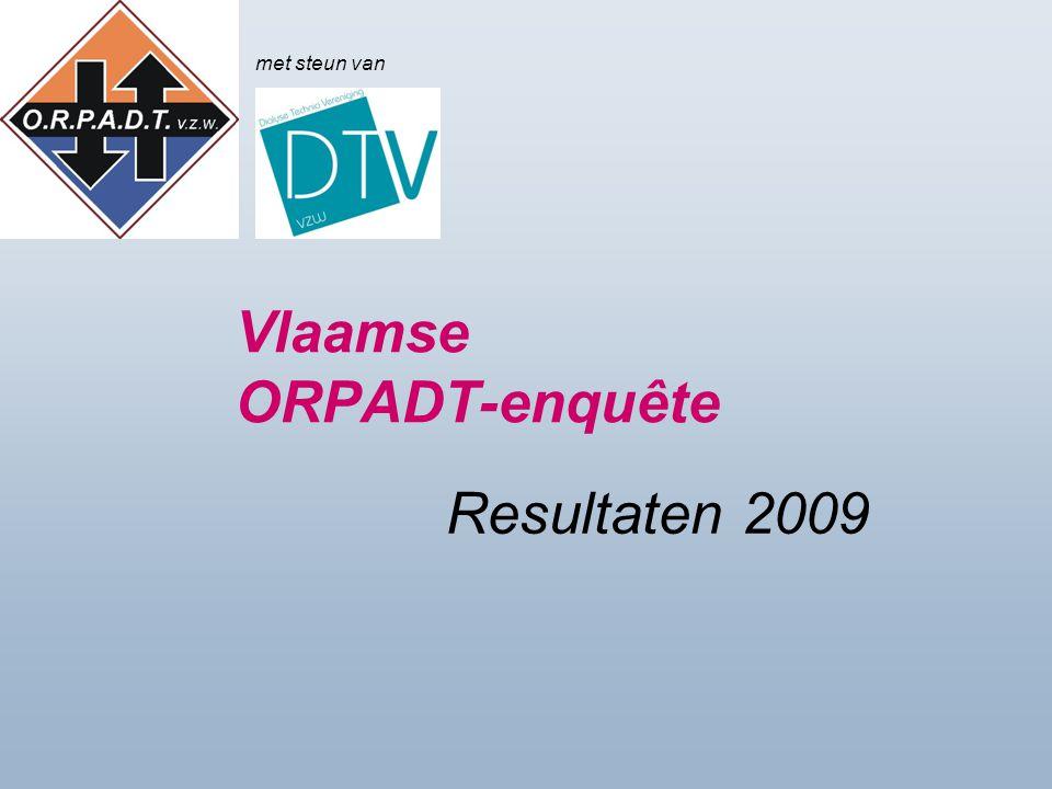 Vlaamse ORPADT-enquête Resultaten 2009 met steun van