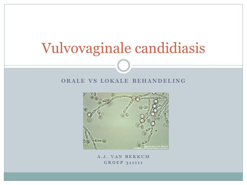 ORALE VS LOKALE BEHANDELING A.J. VAN BEKKUM GROEP 311111 Vulvovaginale candidiasis