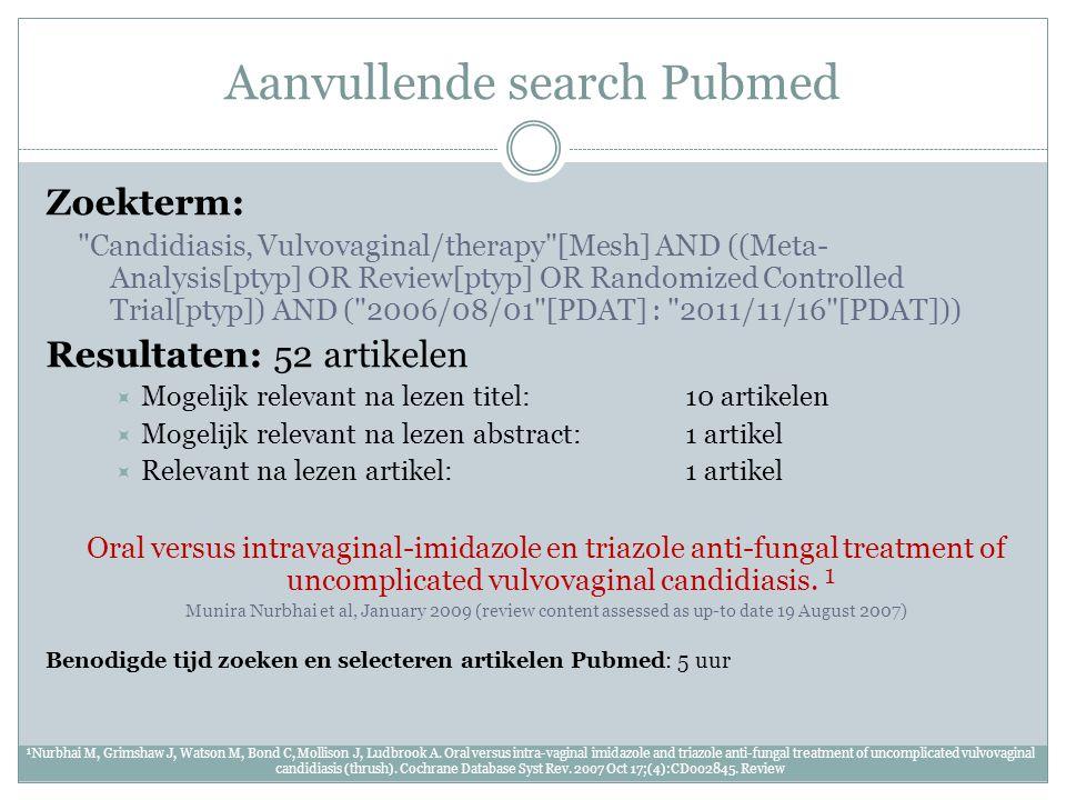 Aanvullende search Pubmed Zoekterm: