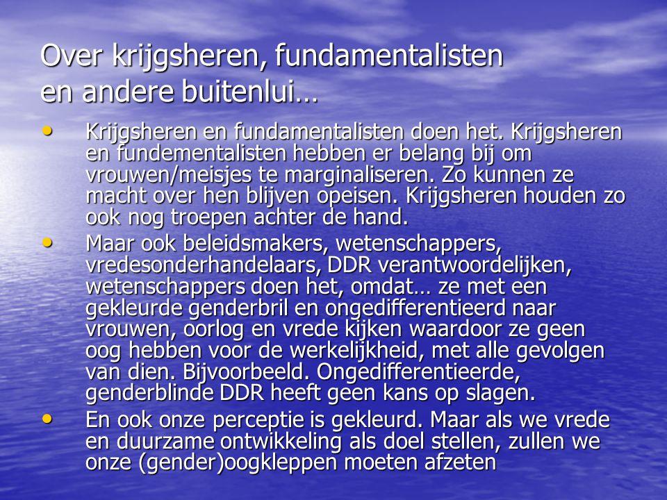Over krijgsheren, fundamentalisten en andere buitenlui… Krijgsheren en fundamentalisten doen het.