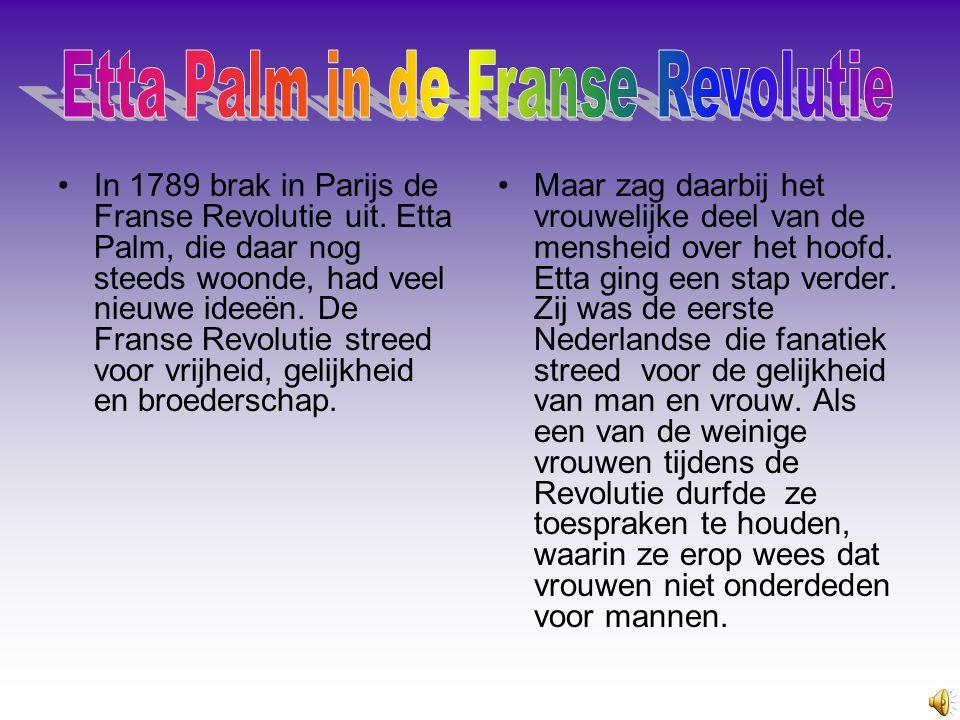 Etta Palm Uit de Franse revolutie Gemaakt door Miranda en Jip