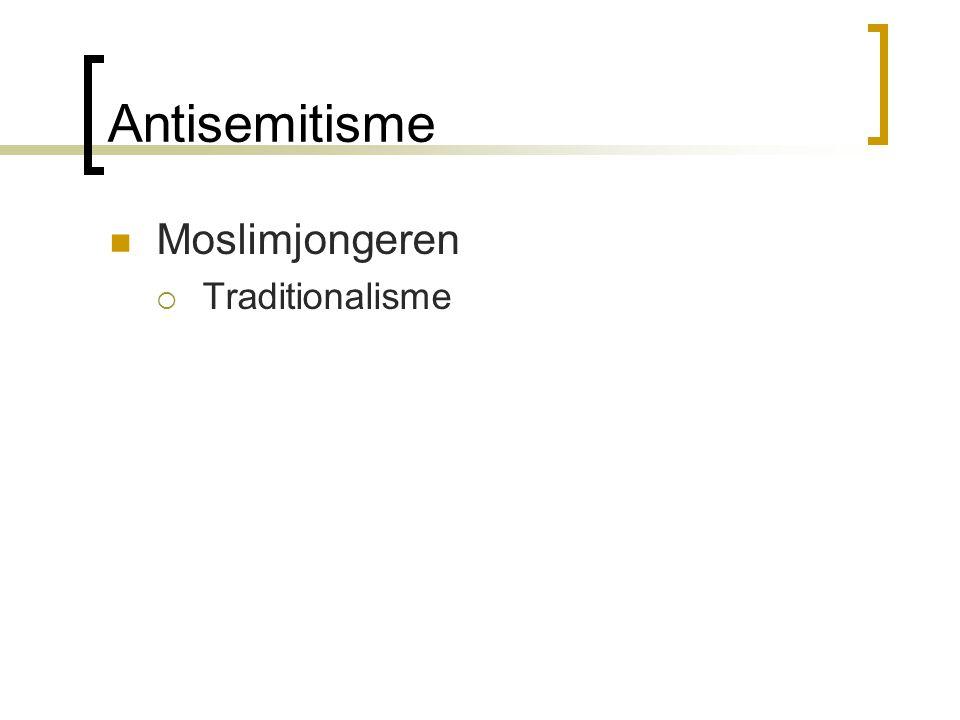 Antisemitisme Moslimjongeren  Traditionalisme