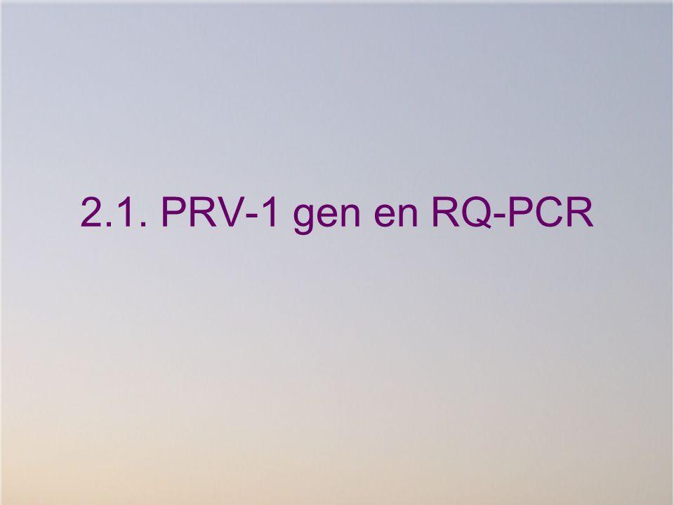 2.1. PRV-1 gen en RQ-PCR
