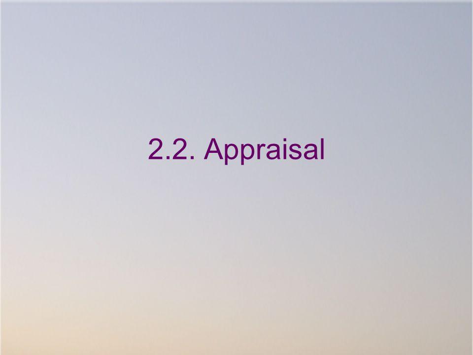 2.2. Appraisal