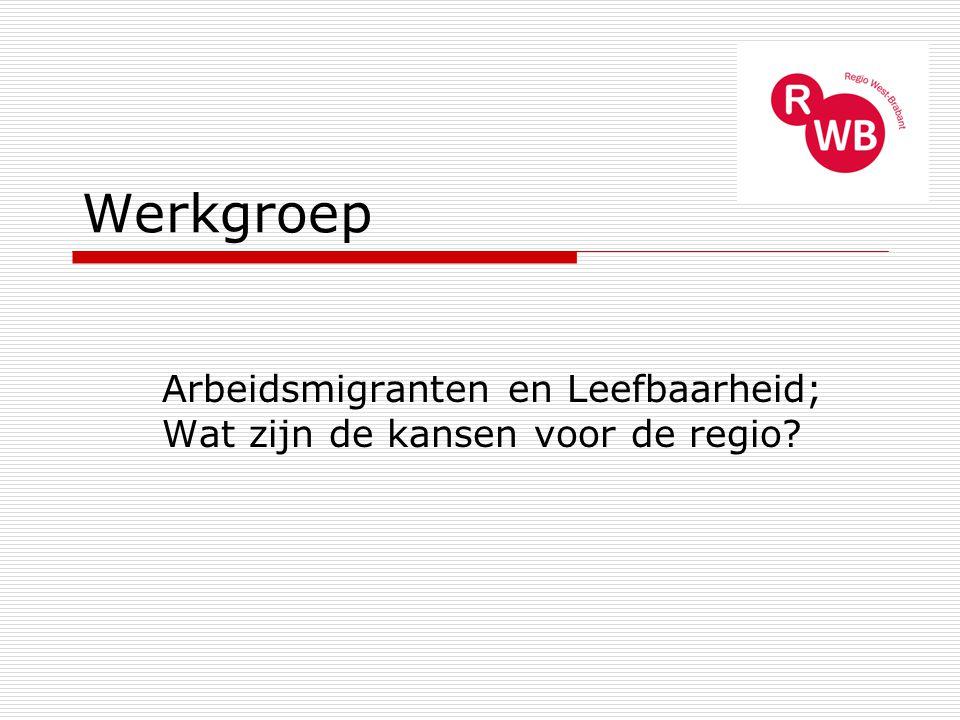 Werkgroep Arbeidsmigranten en Leefbaarheid; Wat zijn de kansen voor de regio?