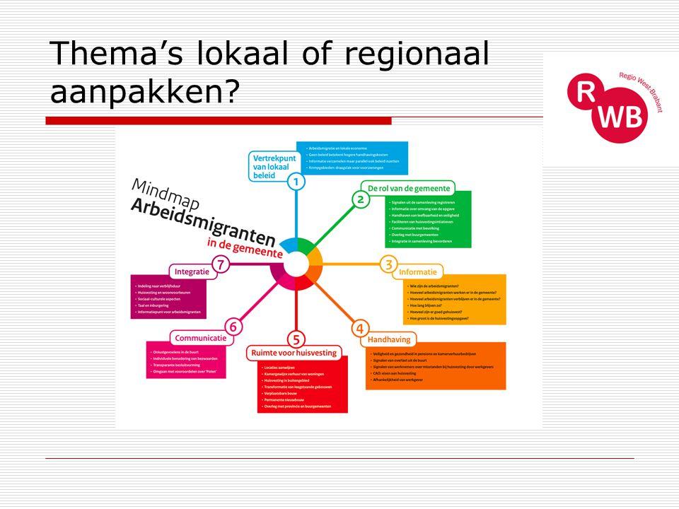 Thema's lokaal of regionaal aanpakken?