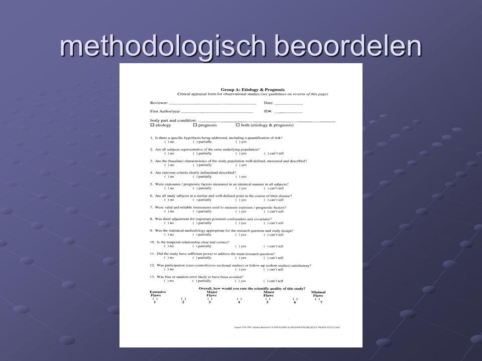 methodologisch beoordelen