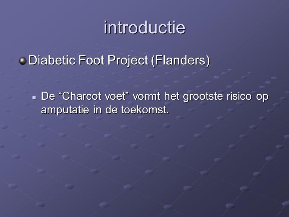 """introductie Diabetic Foot Project (Flanders) De """"Charcot voet"""" vormt het grootste risico op amputatie in de toekomst. De """"Charcot voet"""" vormt het groo"""
