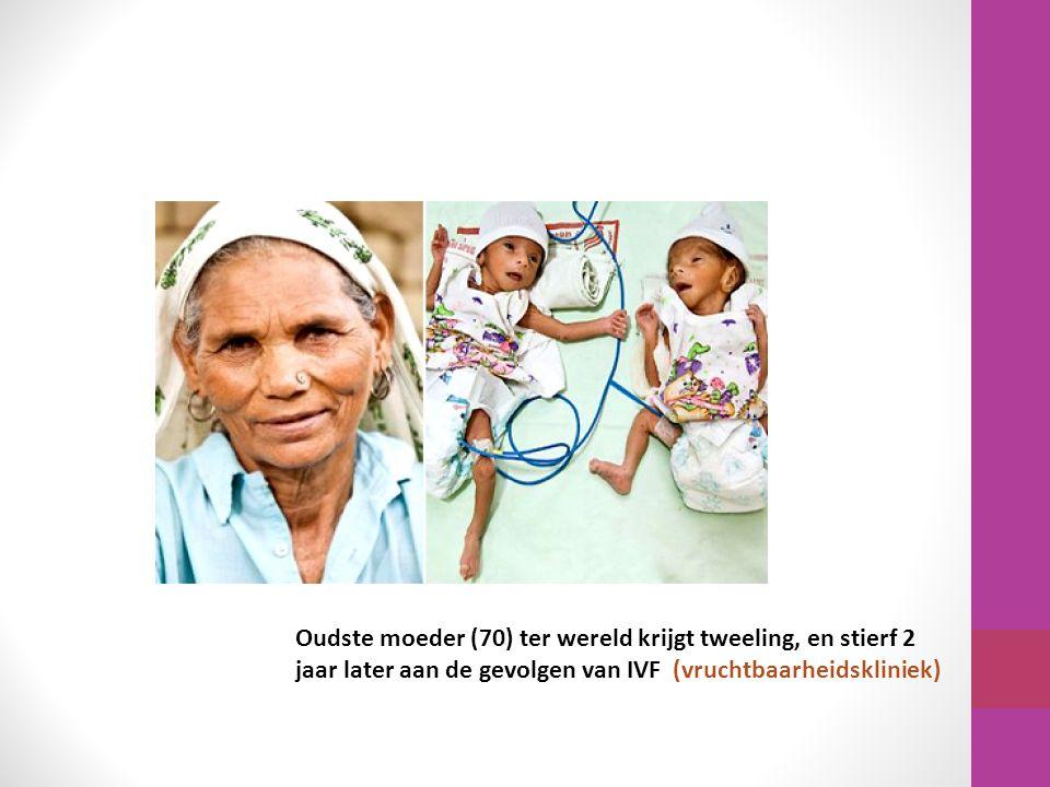 Oudste moeder (70) ter wereld krijgt tweeling, en stierf 2 jaar later aan de gevolgen van IVF (vruchtbaarheidskliniek)