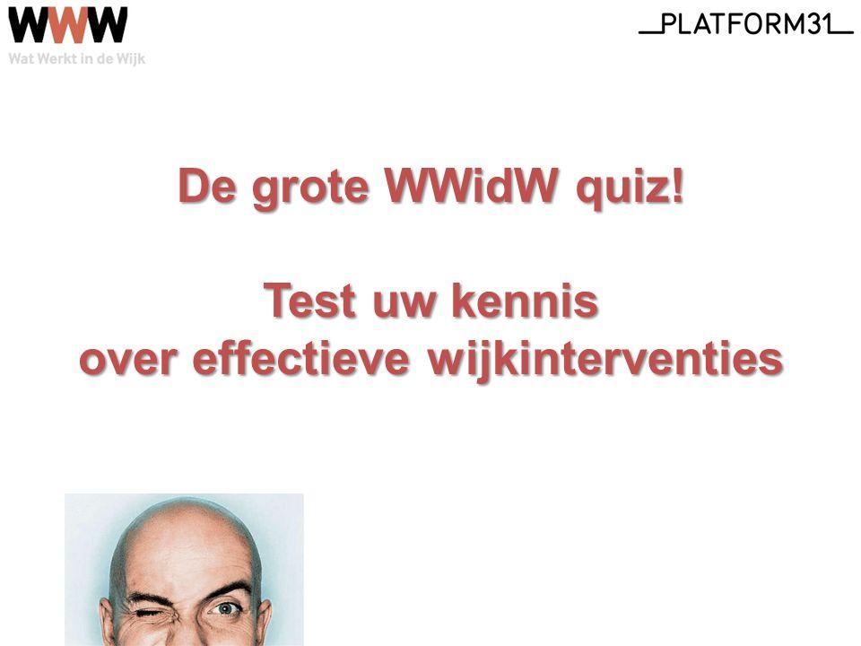 De grote WWidW quiz! Test uw kennis over effectieve wijkinterventies