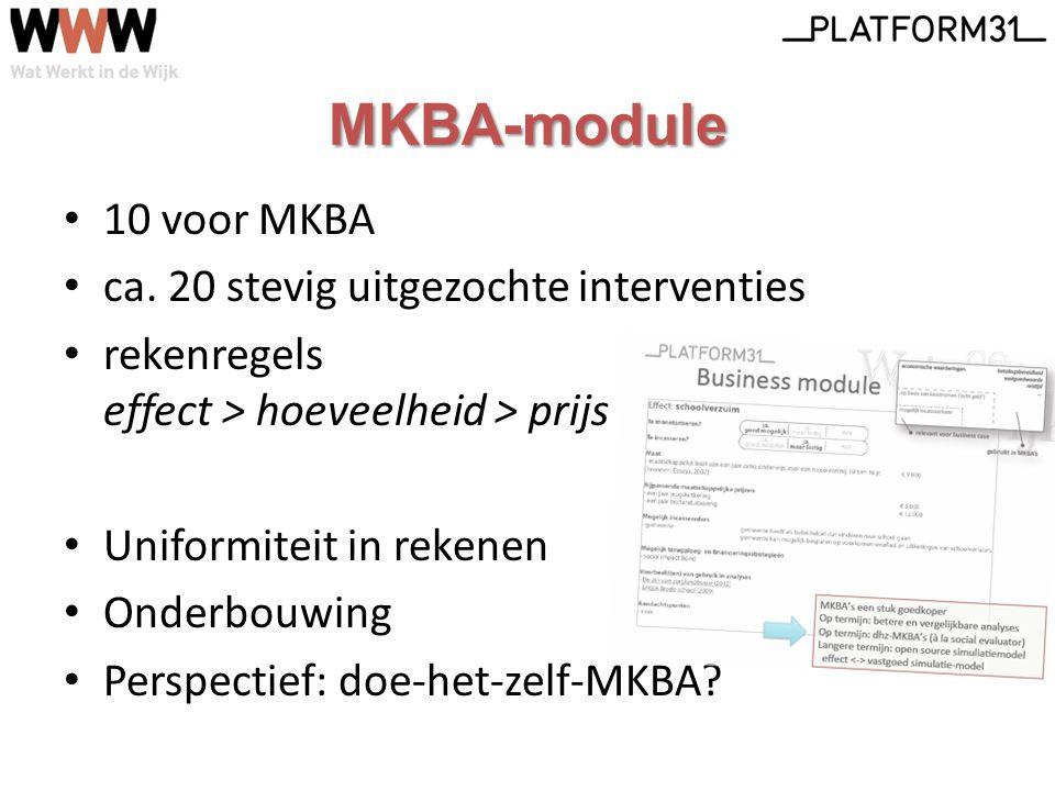 MKBA-module 10 voor MKBA ca.