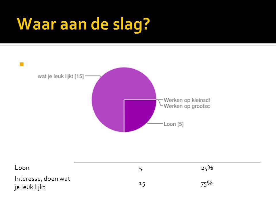 Loon525% Interesse, doen wat je leuk lijkt 1575%