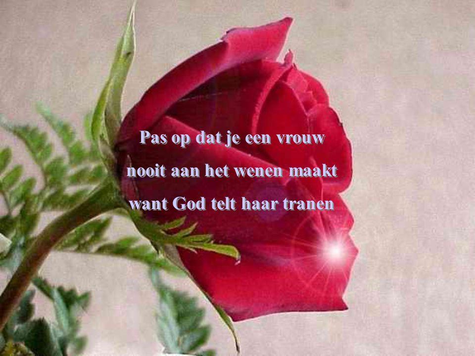 Pas op dat je een vrouw nooit aan het wenen maakt want God telt haar tranen Pas op dat je een vrouw nooit aan het wenen maakt want God telt haar tranen